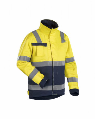 Blaklader 4068 Multinorm Winter Jacket (Yellow/Navy Blue)